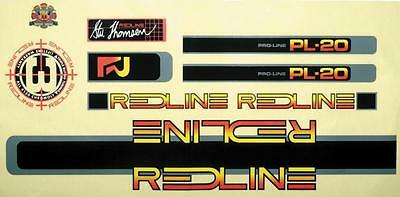 Redline BMX Bicycle 1984 Proline PL-20 Decal Set