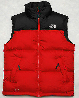THE NORTH FACE NUPTSE - 700 DOWN insulated bodywarmer MEN'S PUFFER VEST - S