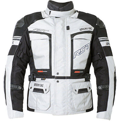 RST Motorbike Motorcycle Touring Pro Series Adventure 3 Textile Jacket - Silver