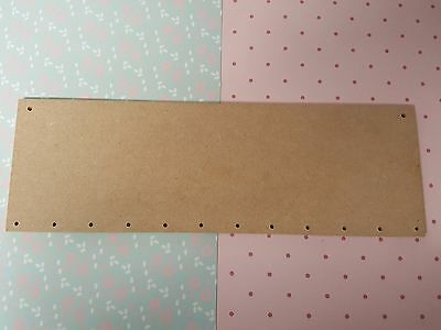 "Mdf Wooden plaques 30x10cm (12""x4"") 10mm thick, pre drilled craft material"