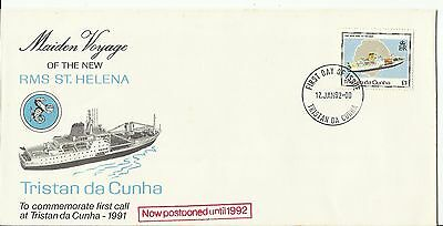FDC Tristan Da Cunha, Maiden Voyage of the New RMS St Helena 1992