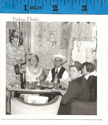 Vintage Photograph New years Eve Party Cheers   #1242