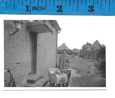 Vintage Photo Woman with baby in pram # 1167
