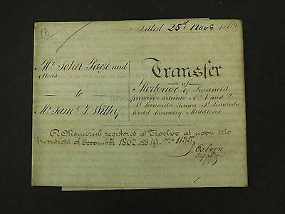 Antique Vellum Indenture 1862 Bromley (by Bow) St Leonards Terr St Leonards Rd