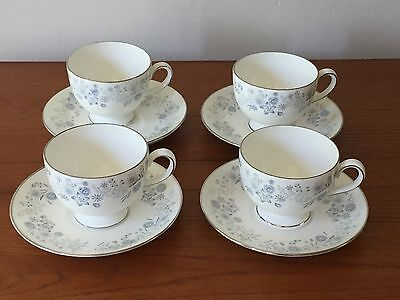 WEDGWOOD Belle Fleur 4 cup and saucer sets