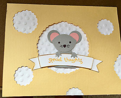 2 GREETING CARDS with mouse special thoughts GREETING