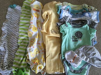 0-3 month gender neutral baby clothes lot GUC