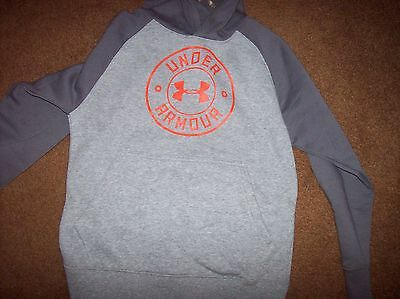 Under Armour Loose Boy's Size Youth Small Hooded Sweatshirt NWT Gray LAST ONE