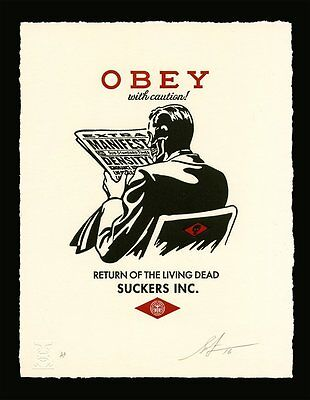 Shepard Fairey・Obey Giant・Obey With Caution・S/N Letterpress Print Not No Future