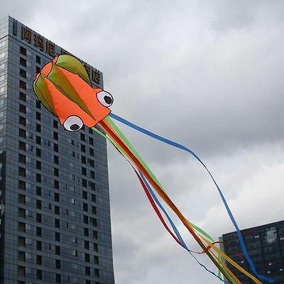 Line Power Inflatable Octopus Kite With 30m Bobbin Wind Spinners Flying Tools