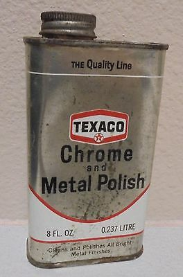Vintage TEXACO Chrome and Metal Polish 8oz can (half full / empty)