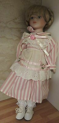 "16"" Standing Porcelain Doll Excellent Condition"