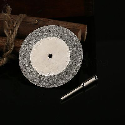 50mm Diamond Rotary Blade Disc Cut off Wheel with 3mm Hole + Mandrel Shank Arbor