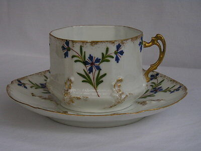 Antique fine quality Limoges France coffee cup and saucer (1 of 4)