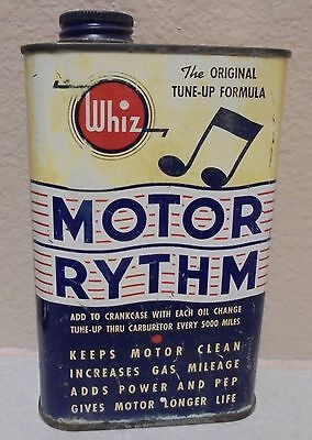 Collectible can WHIZ MOTOR RYTHM GAS OIL DISPLAY CAN