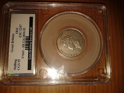 George  1111 Shilling 1826. High Grade Coin.