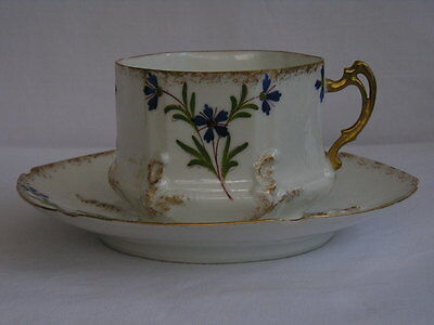 Antique fine quality Limoges France coffee cup and saucer (4 of 4)