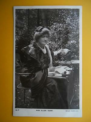 MISS ELLEN TERRY Stage & Film Actress *Vintage* RP c1910 Answering Fan Mail