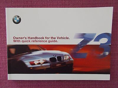 Bmw Z3 Convertible & Z3 Coupe Handbook - Owners Manual - Owners Guide (Bm 676)