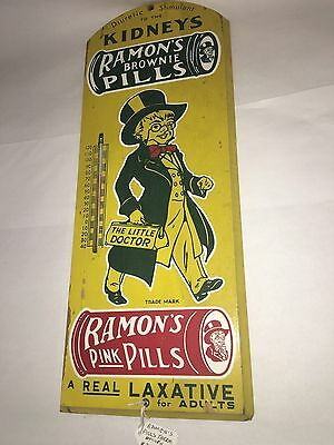 Ramon's Pills Wooden Thermometer.     418-W