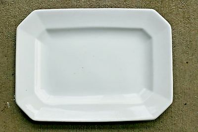 "Wood & Son English Gothic Octagon White Ironstone 13"" Service Platter 1907-1920s"