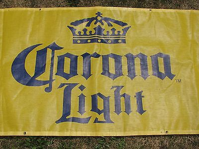 Large Corona Light Heavy Duty  Beer Sign  Flag Banner Sign