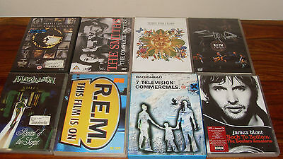 8 Music Dvd's, Marillion, Radiohead, Staind, Smiths, REM, Blunt, Tears for Fears