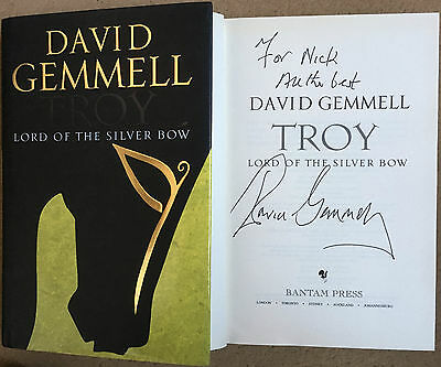 Troy: Lord of the Silver Bow by David Gemmell Hardback Signed First Edition