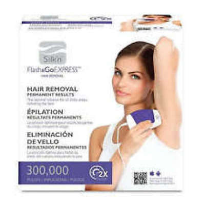 Silk N Flash & Go Express Hair Removal Device 300,000 Flashes New