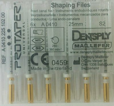 Dental Dentsply Rotary ProTaper Universal Engine NiTi Files 25 mm S2