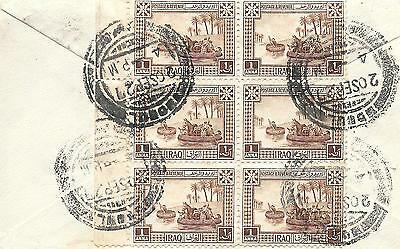 Iraq, Mosul 1927 Commercial Overland Route Cover To U.k.