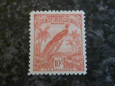 New Guinea Postage Stamp Sg161 10/- With Dates Lmm 1931
