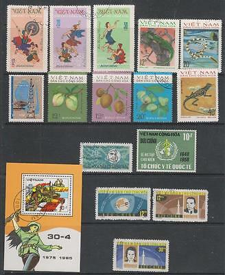 "VIETNAM (Mainly ""North"") - 15 x Stamps + 1 x M/Sheet, Used - 1962-1985 Period"