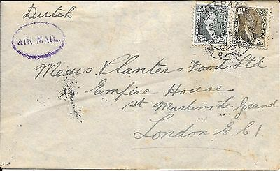 Iraq, Commercial K.l.m. Air Mail Service To London 1933..