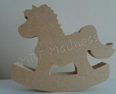 Wooden Craft Shape. Mdf Rocking Horse. 18Mm Free Standing.