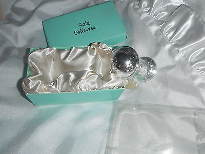 baby rattle silver colour   new