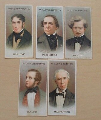 cigarette cards WILLS MUSICAL CELEBRITIES 2ND SERIES LOT D