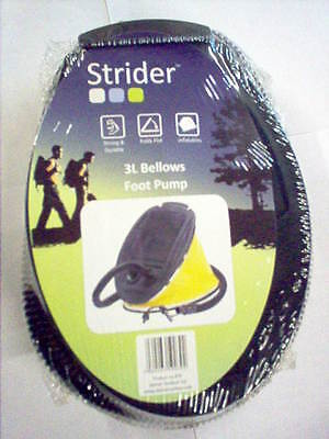 Strider 3L Bellows Foot Pump Camping Airbeds Inflatables