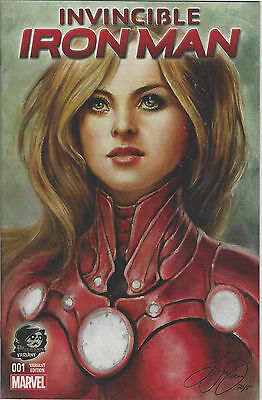 Invincible Iron-Man #1 Phantom Sketch And Color Variants by Siya Oum New Unread!