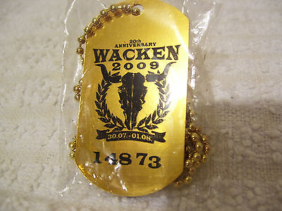 Wacken Open Air - Dogtag from Wacken Open Air 2009. WOA. Heavy Metal.