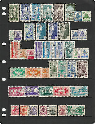 LEBANON, good 1950s collection, better values noted