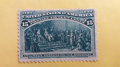 USA 15 Cents Columbus Annoucing Discoveries MNH Stamp as Per Photo CV=200 Pounds