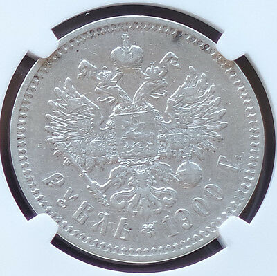 1900 Russia Rouble NGC XF 45 Key Year!