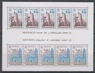 MONACO - 1977.  Europa - Monaco Views - M/Sheet, MNH.  Cat £70