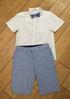 Boys Shirt Bow Tie And Shorts Set 8-9 Years H&M