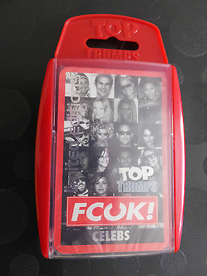 FCUK! Celebs Top Trumps Limited Editions New Sealed Case Scuffed & Scratched