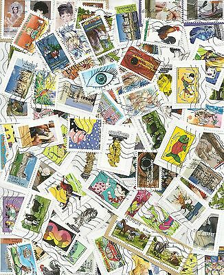FRANCE Années 2015-2016 / 100 TIMBRES DIFFERENTS