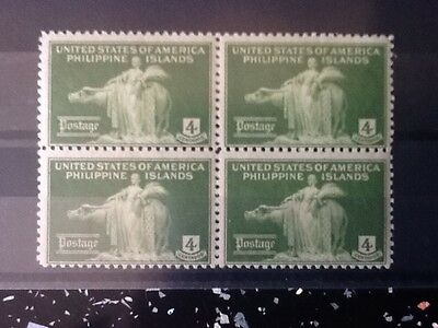 United States Of America Philippine Islands Block Of 4 Stamps Mnh.