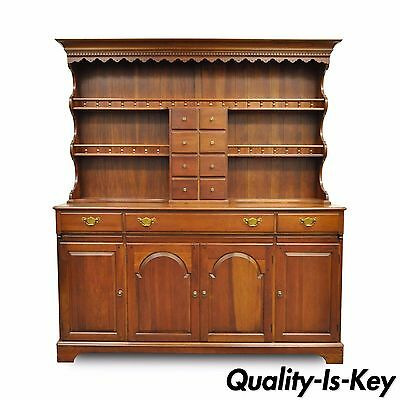 Vintage Pennsylvania PA House Cherry 2 Piece Open Hutch China Cabinet Cupboard