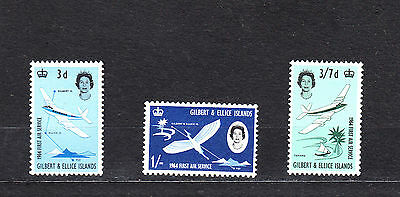 Gilbert & Ellice Islands 1964 1St Air Service Complete Set Mint Hinged